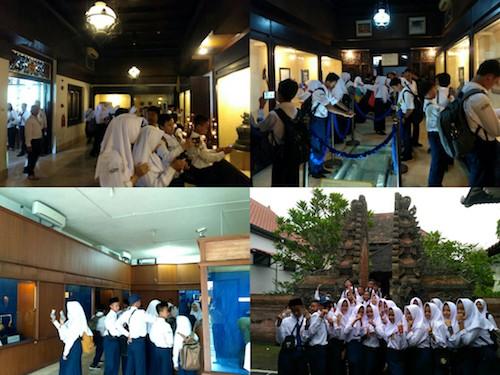 Siswa SMP Negeri 4 Ngaglik Berkunjung ke Museum Sonobudoyo
