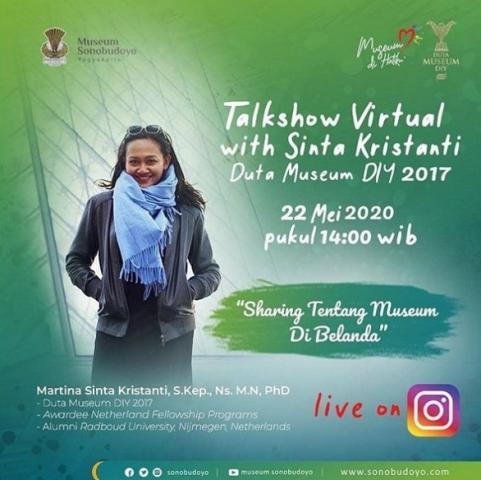 """Virtual Talkshow with Sinta Kristanti  """"Sharing tentang Museum di Belanda"""""""