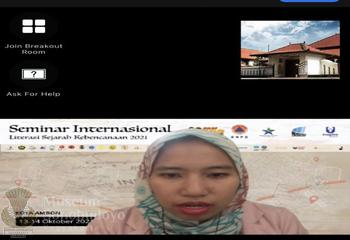 Indonesian Disaster History Literacy Seminar